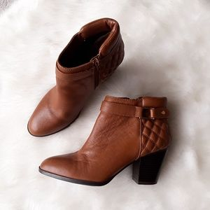 ALFANI Quilted Leather Wakefield Ankle Boots